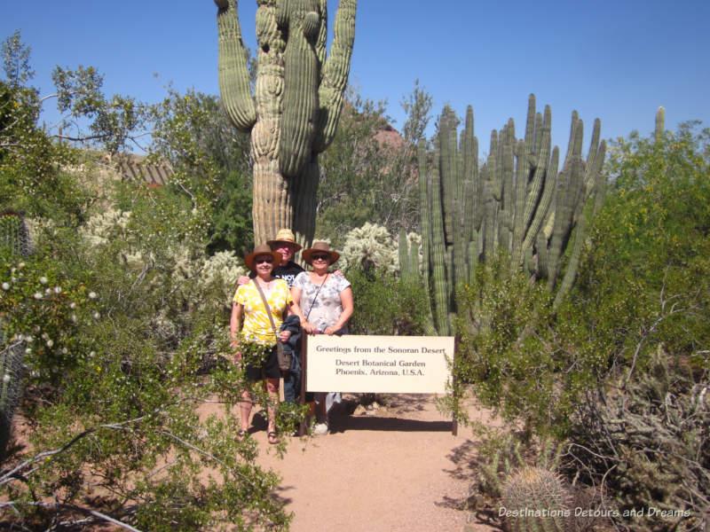 Photo op at Desert Botanical Garden