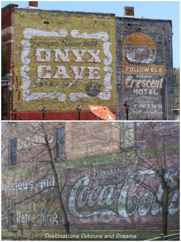 Ghost signs in Eureka Springs, Arkansas