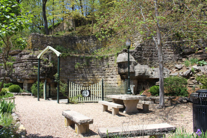 Stone around Sweet Spring, Eureka Springs, Arkansas