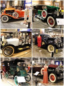 Cars on display at Fountainhead Antique Auto Museum