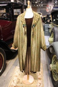 Copper & green lame cloak, circa 1925, decorated with the wings of jewel beetles
