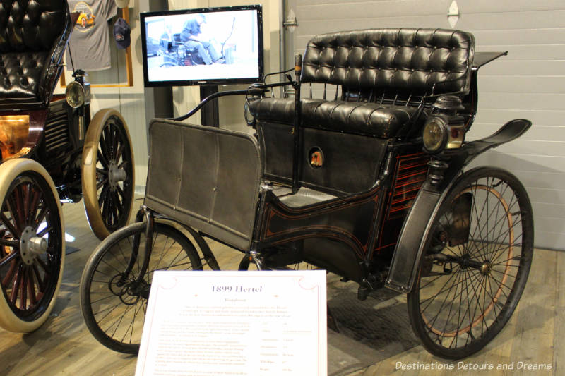 The 1899 Hertel, one of America's earliest gasoline powered automobiles