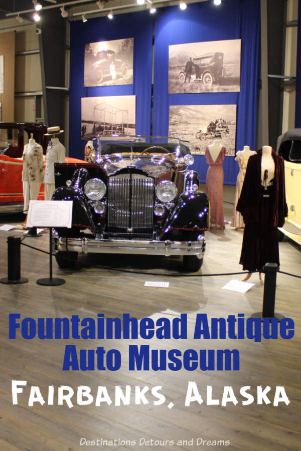 Fountainhead Antique Auto Museum in Fairbanks, Alaska features innovative and rare antique vehicles and vintage clothing #Alaska #Fairbanks #museum #vintageauto #costume