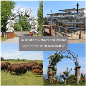 Destinations Detours and Dreams September 2018 Newsletter