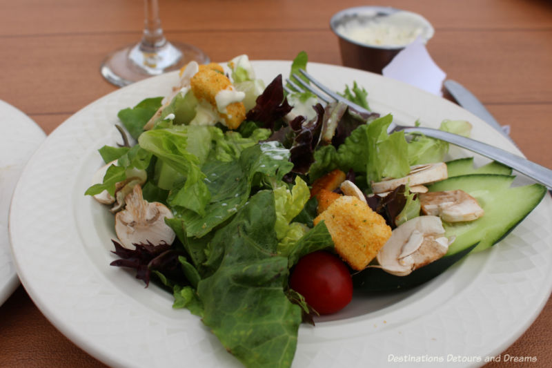 House salad at Pike's Landing in Fairbanks, Alaska