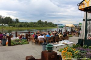 Pike's Landing patio in Fairbanks, Alaska