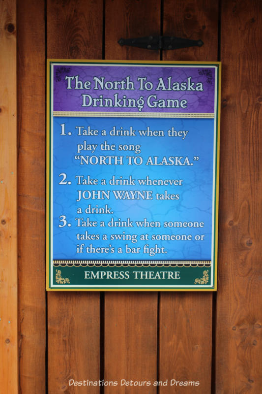 Sign outside Pike's Waterfront Lodge movie theatre in Fairbanks Alaska