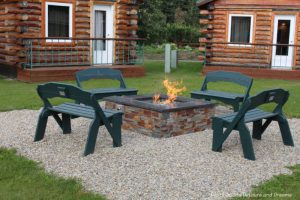 Fire pit at Pike's Waterfront Lodge in Fairbanks, Alaska