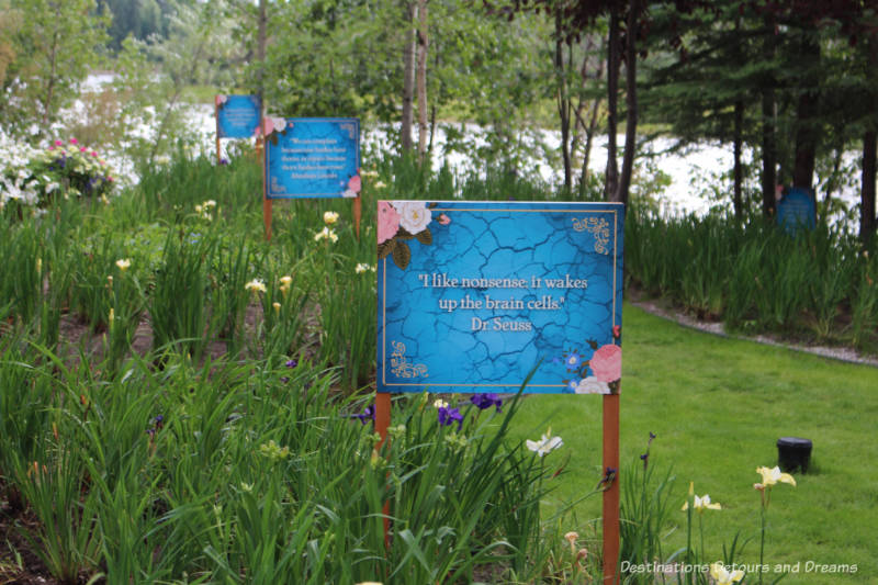 Garden at Pike's Waterfront Lodge in Fairbanks, Alaska