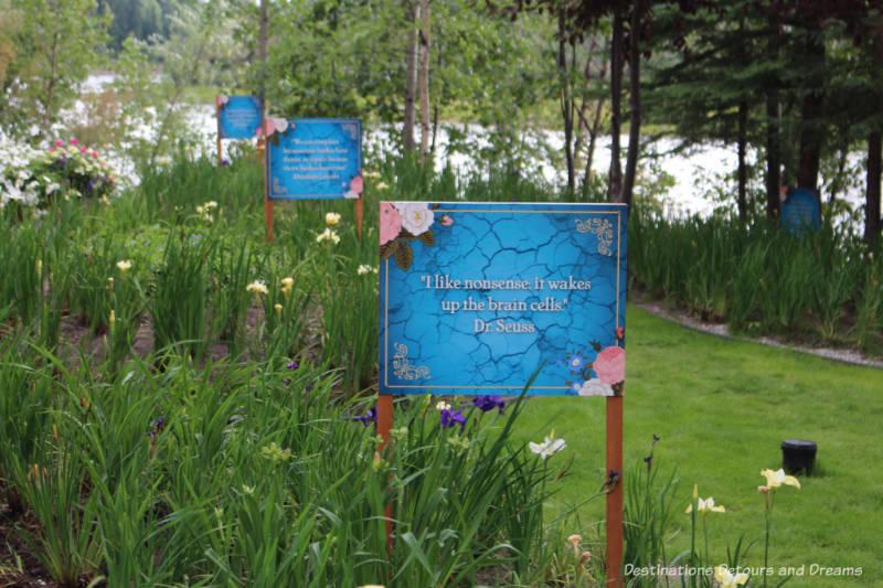 Garden at Pike's Waterfront Lodge in Fairbanks, Alaska