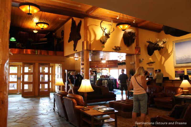 Lobby at Pike's Waterfront Lodge in Fairbanks, Alaska