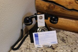 Old-style phone at Pike's Waterfront Lodge is actually a modern touch tone phone