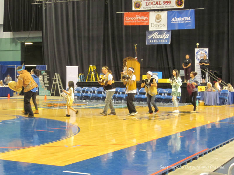 A dance presentation at World Eskimo-Indian Olympics