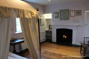 Bedroom Jane and her sister Cassandra shared at Jane Austen's House Museum in Chawton