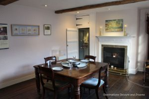 Dining room at Jane Austen's House Museum in Chawton