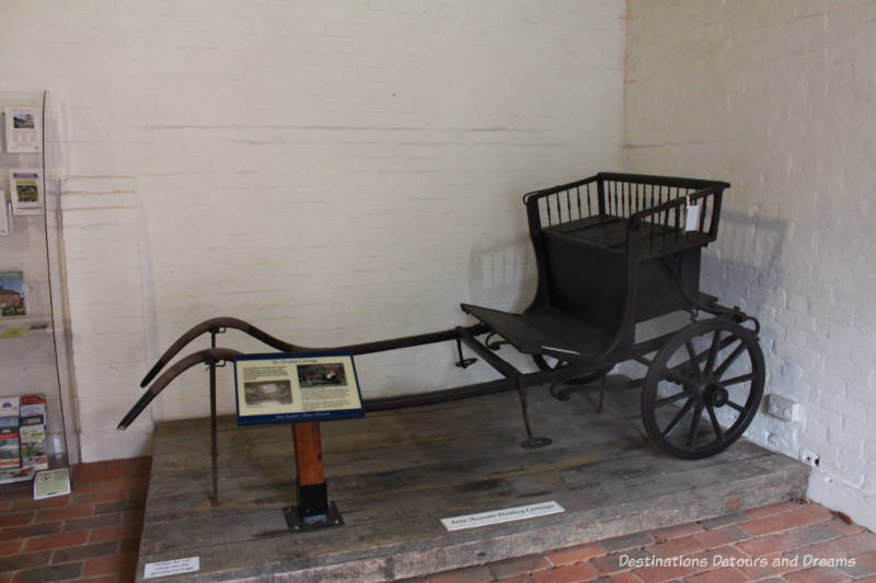 Donkey cart at Jane Austen's House Museum