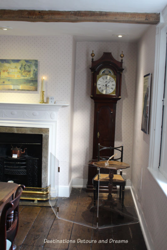 Jane Austen's writing space at her Chawton house, now a museum