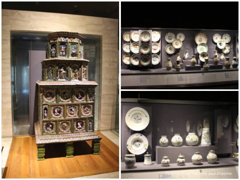 Ceramics in the Koemer European Ceramics Gallery at Museum of Anthropology