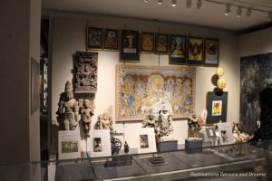 Religious related Indian displays at Museum of Anthropology