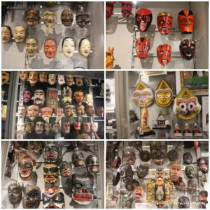 Assorted masks from different cultures at the Museum of Anthropology