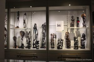 A collection of Mokande sculptures at Museum of Anthropology