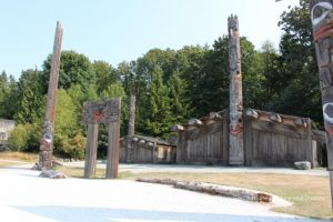 Haida Houses and poles at the Museum of Anthropology in Vancouver, British Columbia