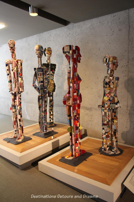 """John, Adam, Alice, Helen and Donna"" by Sally Michener at Museum of Anthropology"