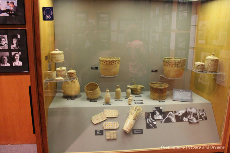 Aleut basketry at Museum of the North