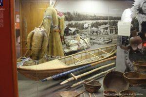Athabaskan display at Museum of the North