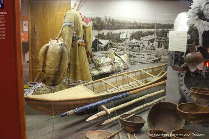 Athabaskan display at Museum of the North