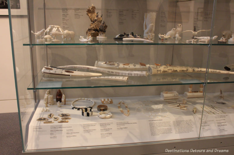 Ivory carvings at the Rose Berry Art Gallery in Fairbanks, Alaska