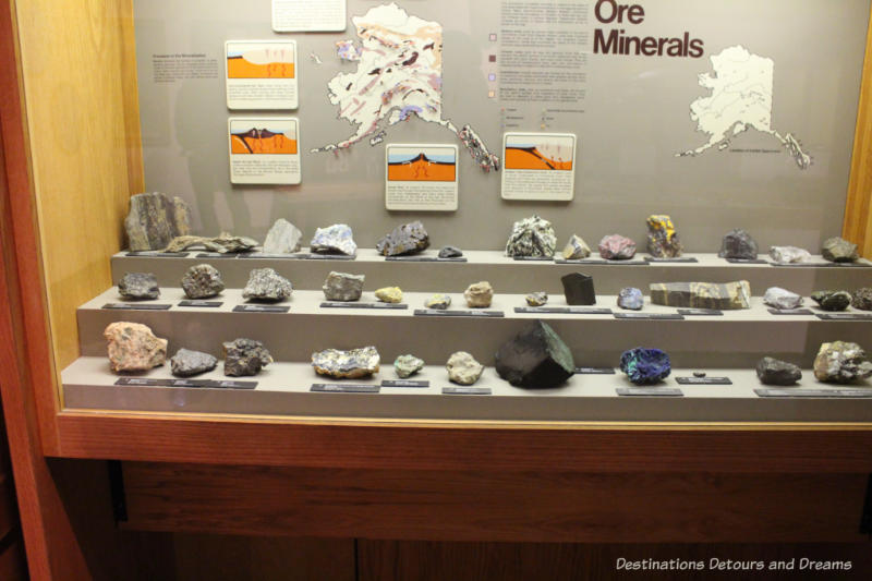 Ores on display at Museum of the North