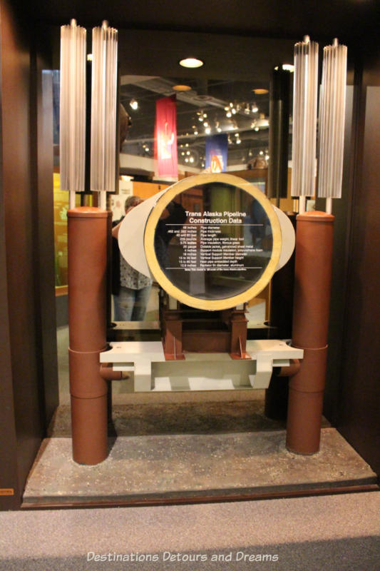 Alaska pipeline display at Museum of the North