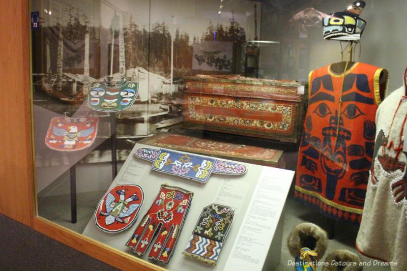 Potlatching regalia at Museum of the North