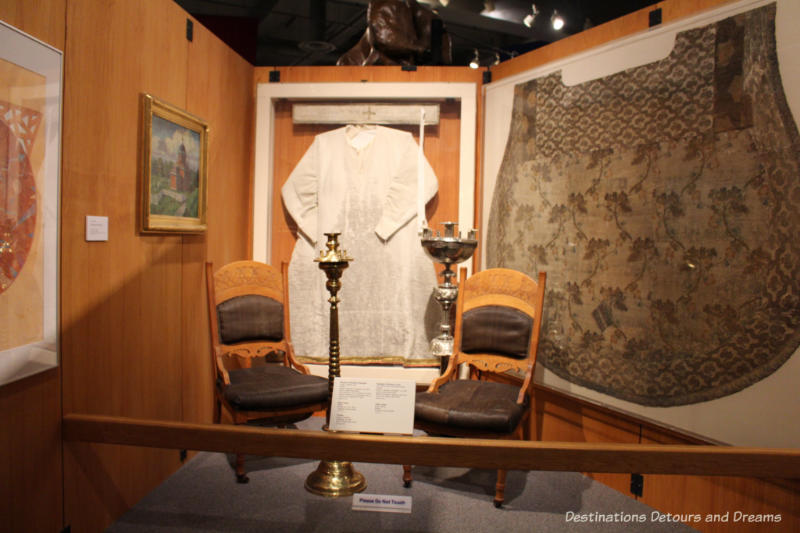 Artifacts from the Russian Orthodox Church in Alaska at the Museum of the North