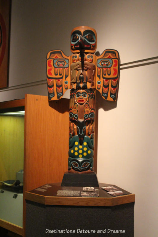 Totem pole at Museum of the North