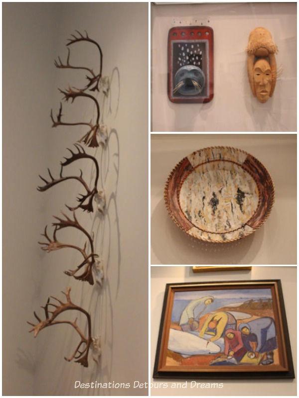 Displays at Rose Berry Art Gallery in Fairbanks, Alaska