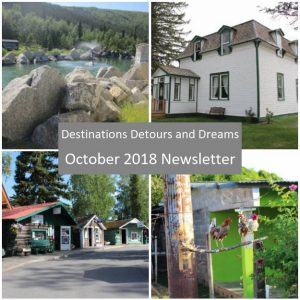 Destinations Detours and Dreams October 2018 Newsletter