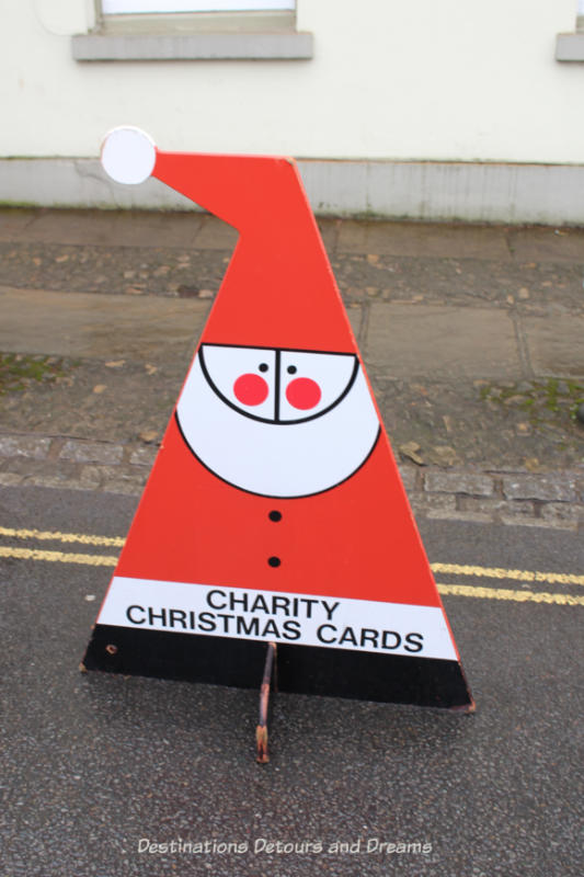 Charity Christmas card sign
