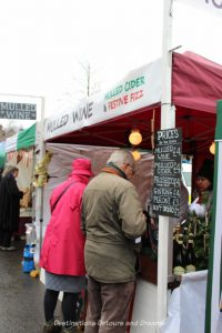 Mulled wine booth at the Haslemere Christmas Market, England