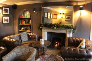 Snug in the Mill at Elstead, Surrey decorated for Christmas