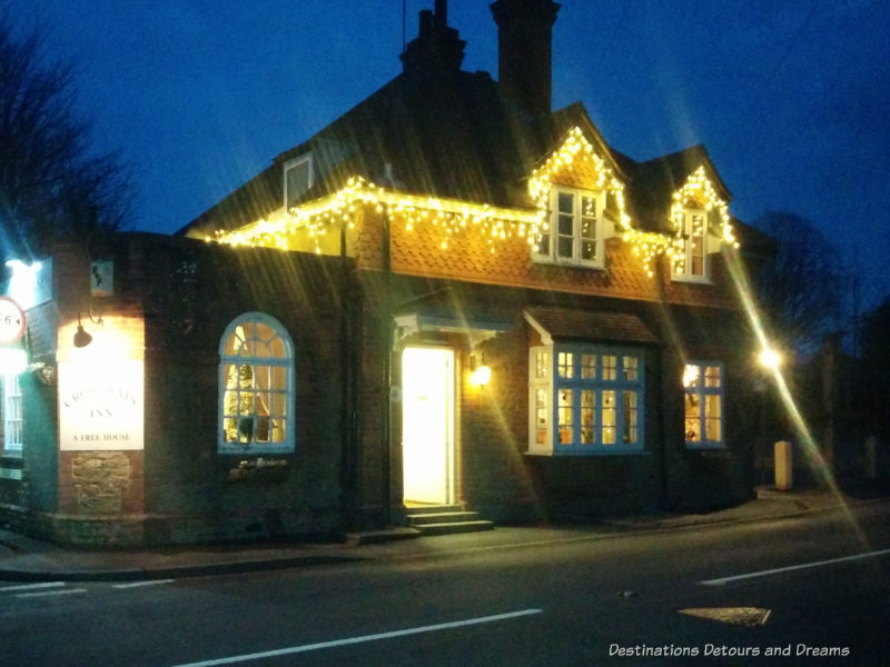 Churt village pub at Christmastime, Churt, Surrey, England