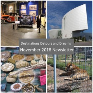 Destinations Detours and Dreams November 2018 Newsletter