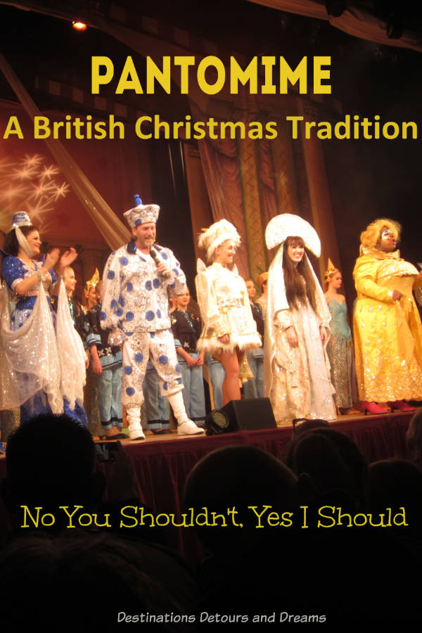 Pantomime, a British Christmas tradition. About Experiencing the zany musical comedy theatre for the first time. #Christmas #Pantomime #tradition #British