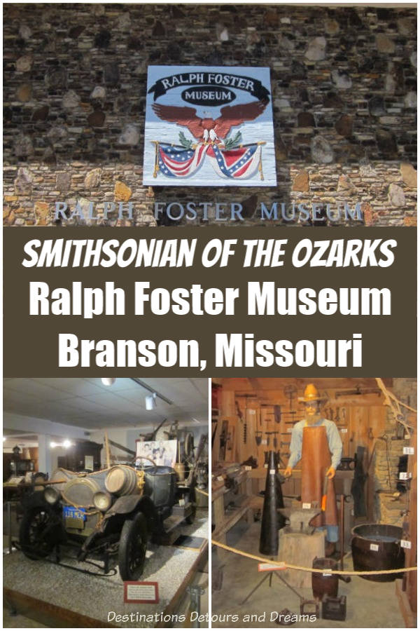 The Ralph Foster Museum of the College of the Ozarks in Branson, Missouri is known as the Smithsonian of the Ozarks #Missouri #Branson #Ozarks #museum #history