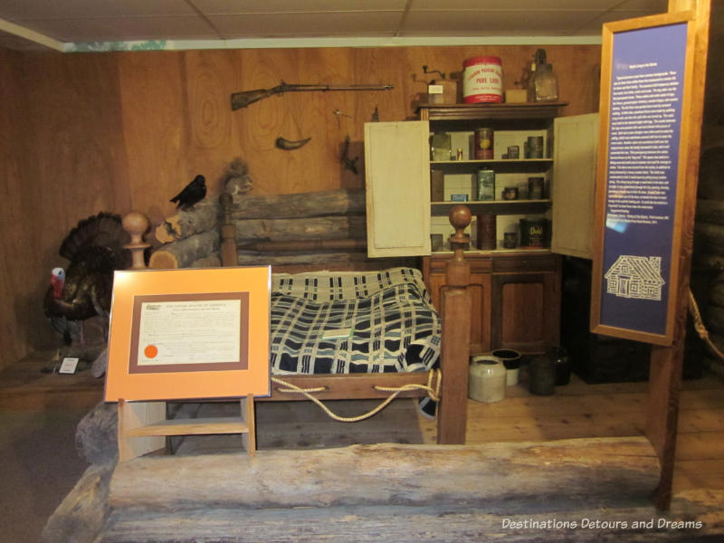Cabin interior at Ralph Foster Museum