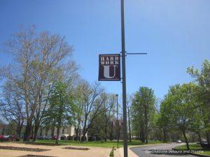 Hark Work U sign at College of the Ozarks