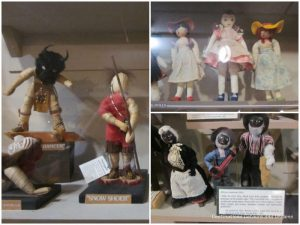 Collection of dolls at Ralph Foster Museum