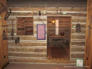 Ozarks cabin at the Ralph Foster Museum in Branson, Missouri