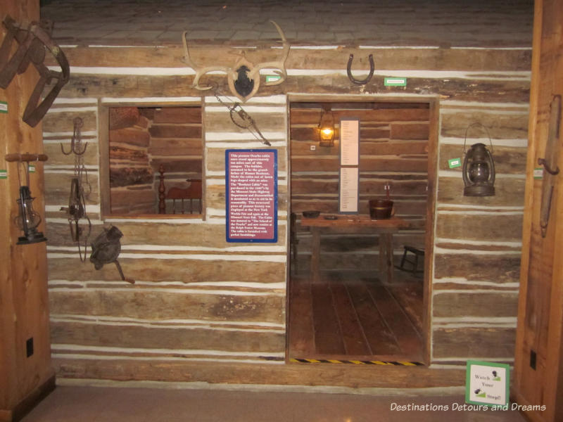 Ozarks cabin at the Ralph Foster Museum in Branson, Missouri
